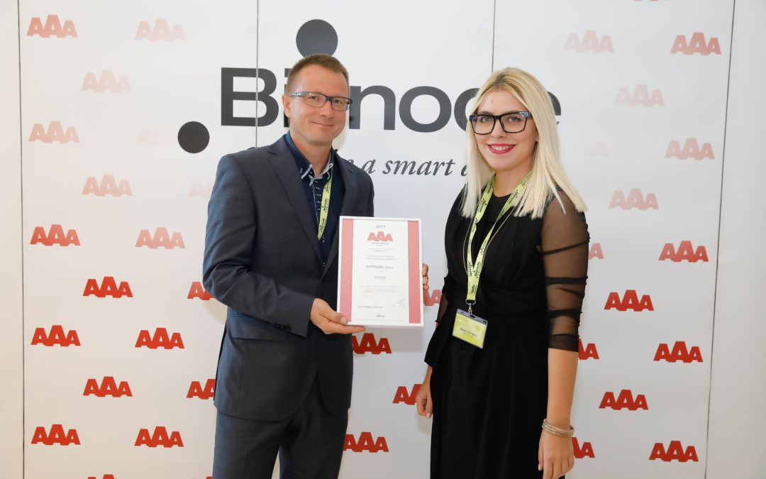 Bintegra continues to hold the AAA Credit rating excellence Certificate